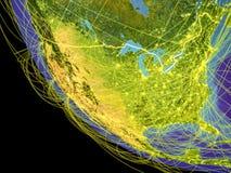 Ηνωμένες Πολιτείες από διάστημα στη γη ελεύθερη απεικόνιση δικαιώματος