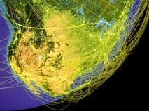 Ηνωμένες Πολιτείες γη από το διάστημα διανυσματική απεικόνιση