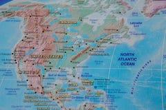 Ηνωμένες Πολιτείες στενό επάνω στο χάρτη Εστίαση στο όνομα της χώρας Vignetting επίδραση στοκ εικόνα με δικαίωμα ελεύθερης χρήσης