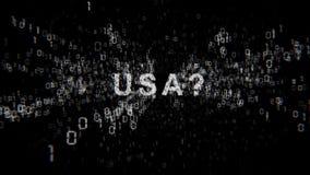 Ηνωμένες Πολιτείες της Αμερικής και cyberespionage διανυσματική απεικόνιση