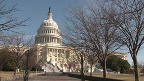 Ηνωμένες Πολιτείες Capitol που στηρίζονται στην κοιλότητα απόθεμα βίντεο
