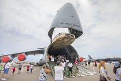 Ηνωμένη αεροπορία Boeing kc-135R Stratotanker με τη μύτη επάνω στην κινηματογράφηση σε πρώτο πλάνο στοκ φωτογραφία με δικαίωμα ελεύθερης χρήσης