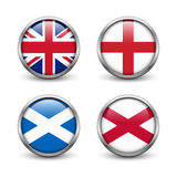 Ηνωμένη σημαία - Αγγλία, Σκωτία, Ιρλανδία Union Jack Στοκ εικόνα με δικαίωμα ελεύθερης χρήσης