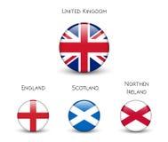 Ηνωμένη σημαία - Αγγλία, Σκωτία, Ιρλανδία Union Jack διανυσματική απεικόνιση