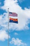 Ηνωμένη σημαία, κρατική σημαία της Αριζόνα στοκ εικόνες με δικαίωμα ελεύθερης χρήσης