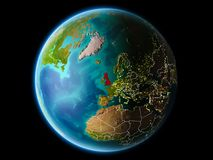 Ηνωμένο Βασίλειο βράδυ Στοκ φωτογραφίες με δικαίωμα ελεύθερης χρήσης