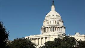 Ηνωμένο Capitol κτήριο, Ουάσιγκτον, συνεχές ρεύμα απόθεμα βίντεο
