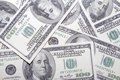 ΗΠΑ ανασκόπηση εκατό τραπεζογραμματίων δολαρίων Στοκ Φωτογραφία