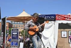 ΗΠΑ, Αριζόνα: Μουσικός Πάτρικ Ki στοκ εικόνες