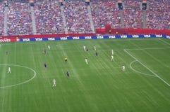 ΗΠΑ εναντίον τελικού της Ιαπωνίας στο Παγκόσμιο Κύπελλο της FIFA Women's Στοκ Φωτογραφία