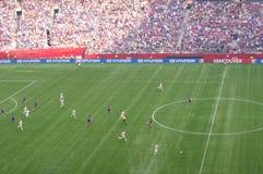 ΗΠΑ εναντίον τελικού της Ιαπωνίας στο Παγκόσμιο Κύπελλο της FIFA Women's Στοκ Φωτογραφίες