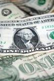 ΗΠΑ κινηματογράφηση σε πρώτο πλάνο λογαριασμών ενός δολαρίου τραπεζογραμμάτιο Δολ ΗΠΑ πορτρέτο Ουάσιγκτον George τα χρήματα δηλών Στοκ Φωτογραφία