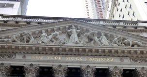 ΗΠΑ Νέα Υόρκη Κλεψύδρα, δολάριο και ευρώ Γουώλ Στρητ στοκ εικόνες