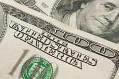 ΗΠΑ λογαριασμοί 100 δολαρίων Στοκ εικόνα με δικαίωμα ελεύθερης χρήσης