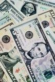 ΗΠΑ. λογαριασμοί δολαρίων. Στοκ Φωτογραφίες