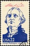 ΗΠΑ - 1986: παρουσιάζει πορτρέτο George Washington (1732-1799), Πρόεδροι σειράς των ΗΠΑ Στοκ εικόνα με δικαίωμα ελεύθερης χρήσης