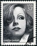 ΗΠΑ - 2005: παρουσιάζει πορτρέτο Greta Garbo Lovisa Gustafsson (1905-1990), κινηματογραφικές ταινίες αιώνα σειράς Στοκ Εικόνα