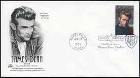 ΗΠΑ - 1996: παρουσιάζει James Dean το 1931-1955, δράστης στοκ φωτογραφίες