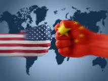 ΗΠΑ Χ Κίνα στοκ φωτογραφίες