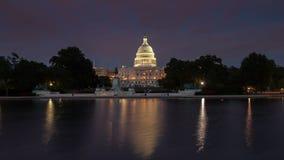 ΗΠΑ Capitol που χτίζουν timelapse απόθεμα βίντεο