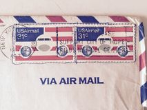 1977 ΗΠΑ Corespondence Στοκ εικόνες με δικαίωμα ελεύθερης χρήσης