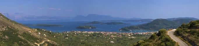 Ηπειρωτική χώρα και πανόραμα νησιών Στοκ φωτογραφίες με δικαίωμα ελεύθερης χρήσης