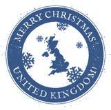 ηπειρωτικός πολιτικός ενωμένος χαρτών βασίλειων Εκλεκτής ποιότητας Χαρούμενα Χριστούγεννα διανυσματική απεικόνιση