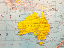 ηπειρωτικός χάρτης της Αυστραλίας πολιτικός Στοκ Φωτογραφίες