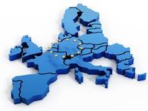 ηπειρωτικός χάρτης της Ευρώπης πολιτικός διανυσματική απεικόνιση