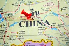 ηπειρωτικός χάρτης της Κίνας πολιτικός στοκ εικόνα