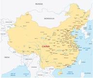 ηπειρωτικός χάρτης της Κίνας πολιτικός Στοκ εικόνα με δικαίωμα ελεύθερης χρήσης