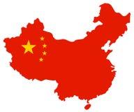 ηπειρωτικός χάρτης της Κίνας πολιτικός Στοκ εικόνες με δικαίωμα ελεύθερης χρήσης