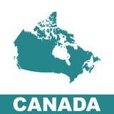 ηπειρωτικός χάρτης του Καναδά πολιτικός Επίπεδη διανυσματική απεικόνιση διανυσματική απεικόνιση