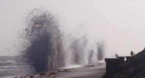 Ηρεμίες Ophelia θύελλας κάτω και ηπειρωτική χώρα UK χτυπημάτων Στοκ Φωτογραφίες