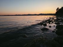 Ηρεμώντας θάλασσες Στοκ Φωτογραφία