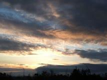 ηρεμώντας σύννεφα Στοκ Εικόνες