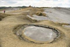 Ηφαίστεια λάσπης γνωστά επίσης ως θόλοι λάσπης στοκ φωτογραφία με δικαίωμα ελεύθερης χρήσης