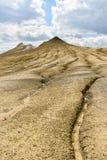 Ηφαίστεια λάσπης γνωστά επίσης ως θόλοι λάσπης στοκ φωτογραφίες