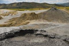 Ηφαίστεια λάσπης γνωστά επίσης ως θόλοι λάσπης στοκ φωτογραφία