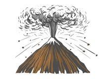 Ηφαίστειο έκρηξης που χρωματίζεται Στοκ Εικόνες
