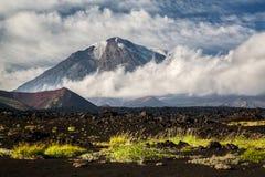 Ηφαίστειο επίπεδο Tolbachik Στοκ φωτογραφία με δικαίωμα ελεύθερης χρήσης