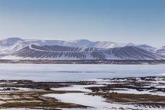 Ηφαίστειο της Ισλανδίας Myvatn Στοκ φωτογραφίες με δικαίωμα ελεύθερης χρήσης