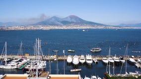 Ηφαίστειο της Νάπολης και του Βεζούβιου, Ιταλία απόθεμα βίντεο