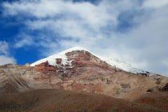Ηφαίστειο Chimborazo, υψηλές Άνδεις, Ισημερινός Στοκ φωτογραφία με δικαίωμα ελεύθερης χρήσης