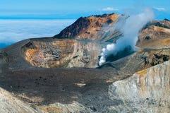 Ηφαίστειο Ebeko, νησί Paramushir, Ρωσία Στοκ Φωτογραφίες