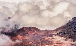 Ηφαίστειο Haleakala στο νησί Maui στη Χαβάη Στοκ εικόνα με δικαίωμα ελεύθερης χρήσης