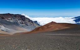 Ηφαίστειο Haleakala στο της Χαβάης νησί Maui Στοκ Εικόνες