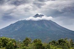 Ηφαίστειο Merapi βουνών, Ιάβα Στοκ Φωτογραφία
