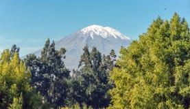 Ηφαίστειο Misti κοντά σε Arequipa στο Περού Στοκ Εικόνα
