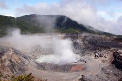 Ηφαίστειο Poas, Κόστα Ρίκα Στοκ Φωτογραφίες
